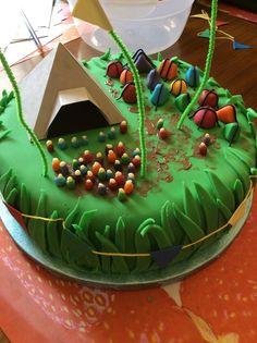 Glastonbury cake Camping Cakes, Camping Snacks, Camping Theme, Themed Wedding Cakes, Themed Birthday Cakes, Themed Cakes, Cake Wedding, Festival Wedding, Food Festival