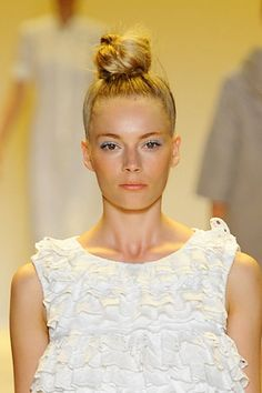 Runway Beauty: The Perfect Topknot at ADAM