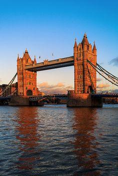 London - Sunset Glow by John & Tina Reid, via Flickr