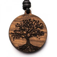 Baum des Lebens - 3in1_diy_schmuck Holzschmuck aus Naturholz / Anhänger Christmas Ornaments, Holiday Decor, Accessories, Diy Jewelry Necklace, Small Stud Earrings, Tree Of Life, Presents For Mom, Amulets, Christmas Jewelry