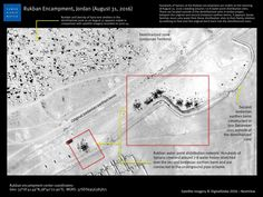 Jordan: New Satellite Images of Syrians Stranded at Border Human Rights Organizations, Human Rights Watch, Jordans, At Least, News, August 31, Image, Human Rights Organisations