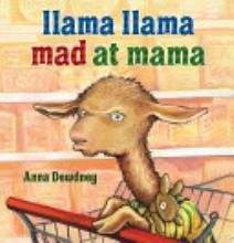 I love the 'llama llama' books and this is one of my favorites. In this book, llama isn't happy that he has to go shopping and he has a temper tantrum.