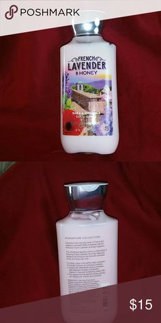 Bath & Body Works French Lavender & Honey 8fl oz Bath & Body Works French lavender and honey Shea and vitamin E body lotion 8 fluid ounces was used as a tester product is open Signature Collection product is full Bath & Body Works Other