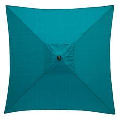 Hampton Bay 6 ft. Square Aluminum Patio Market Patio Umbrella in Emerald Coast