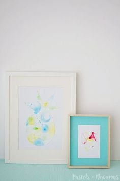DIY bubble art - perfect for home decor, card making and more.