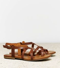 American Eagle Outfitters  AEO Strappy Criss Cross Sandal