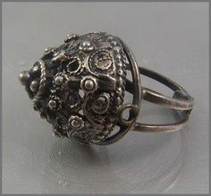 Ring | Designer ?.  Sterling silver. ca. 1960s