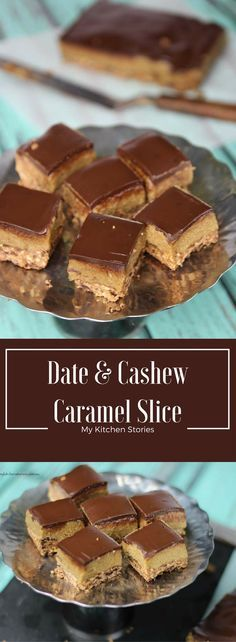 Vegan, Gluten Free and utterly delectable caramel slice with dates