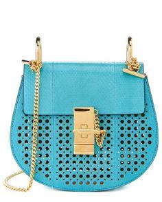 Chloe Drew bag light electric blue