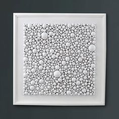 White Wall Art Wood Wall Art Wood Sculpture by ModernRusticArt, $625.00 - wood balls, frame, paint and adhesive - easy DIY and WAY less expensive