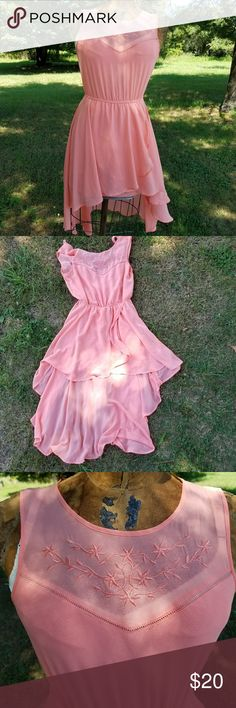 Flowy Peach High Low Dress EUC no flaws at all. Offers considered. No trades. Forever 21 Dresses High Low