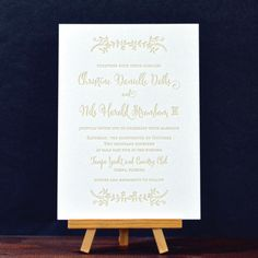 The Olive Branch letterpress wedding invitations display a casual yet classy design. The delicate touches and the whimsical evoke an organic and elegant feel.