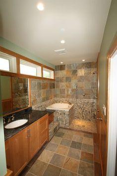 Digital Art Gallery Soaking Tub and Open Shower traditional bathroom dc metro Stohlman u Kilner Remodeling Contractors