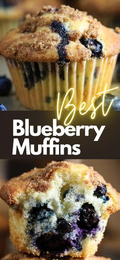 Easy Blueberry Muffins, Homemade Muffins, Blue Berry Muffins, Blueberry Recipes, Quick Bread Recipes, Muffin Recipes, Easy No Bake Desserts, Dessert Recipes, Cheesecake Desserts
