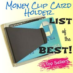 There are so many super nice Money Clip Card Holders and Slim Wallets for men on my LIST!  Blessings, Will