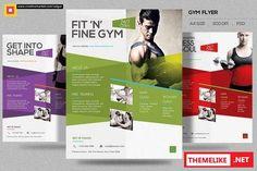 CreativeMarket - Fitness Flyer / Gym Flyer V10 365359