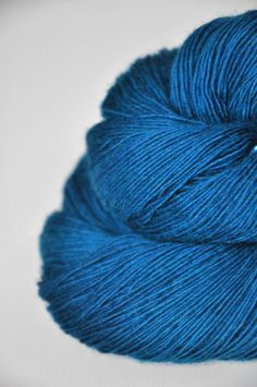 Dyeforwool: Floating in the blue ocean OOAK Merino/BabyCamel