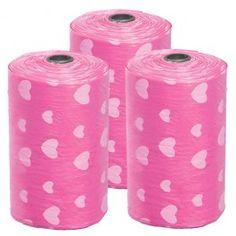 Dog....Pink Hearts Waste Bag Refills