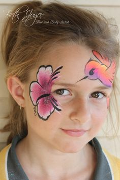Brisbane Face Painter, Hummingbird Face Painting, Faces and Bodies are my Canvas - it's the best job in the world!