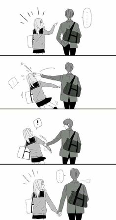 I'll never let you fall - wholesomeanimemes Couple Amour Anime, Couple Anime Manga, Anime Couples Drawings, Anime Love Couple, Anime Couples Manga, Anime Couples Cuddling, Romantic Anime Couples, Cute Couple Comics, Couples Comics