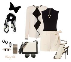 """""""Black & Cream"""" by cody-k ❤ liked on Polyvore featuring Oasis, Helmut Lang, L.A.M.B., Victoria Beckham, Topshop, Givenchy, Bling Jewelry, Lulu*s, Chicnova Fashion and Chanel"""