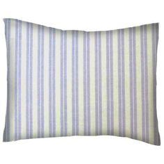 SheetWorld Crib / Toddler Pillow Case - Cotton Percale - Lavender Dual Stripe