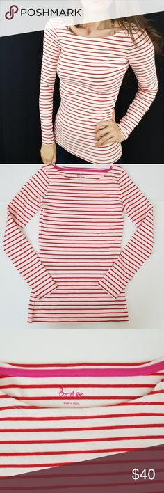 1983d045240aff Boden boatneck long sleeve stripe tee -B6 Boden long sleeve