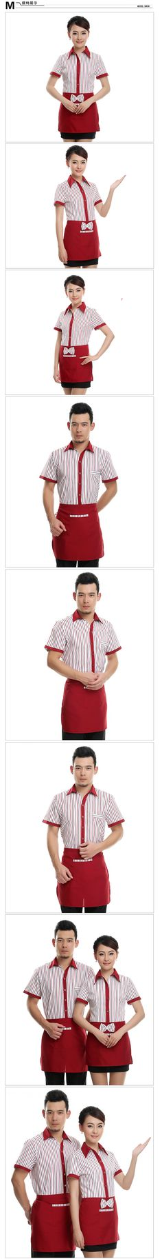 Aliexpress.com : Buy [10sets top&apron] short sleeve female waiter uniform work wear male ktv working uniforms bar work clothes wholesale from Reliable clothes exercise suppliers on Hotel Uniforms Wholesale. | Alibaba Group