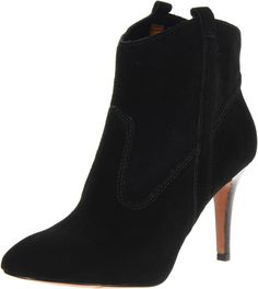 Nine West Women's Maggi Bootie,Black Suede,7.5 M US. A compact western boot gets a touch of poise with the inclusion of a slender heel.