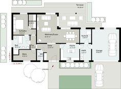 Bungalow grundriss 120 qm Grundriss bungalow mit integrierter garage