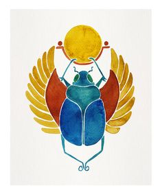 Love this Traditional Palette Egyptian Scarab Print on #zulily! #zulilyfinds