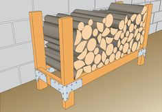 homemade firewood rack | KWB1-Log-Rack.jpg - DAD