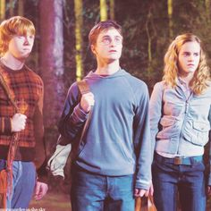 Ron Weasley, Harry Potter & Hermione Granger