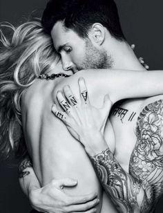 Adam Levine & Anne Vyalitsyna, Vogue Russia