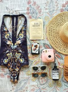 Plunging Printed Swimsuit - Trendslove