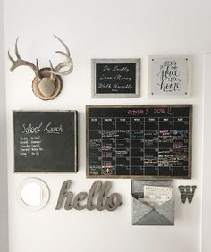 Farmhouse mudroom calendar planning. We are so busy with school activities, sports, birthday parties, doctor's appointments, and other random stuff, that a calendar was much needed. I decided to make a wall collage to give it that rustic farmhouse feel. #farmhouse #calendar #mudroom mudroom-calendar-planning Beautiful Homes of Instagram @nc_homedesign via Home Bunch
