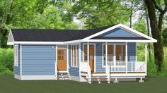 16x30 House -- #16X30H3D -- 705 sq ft