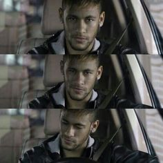 Imagine that Neymar comes to pic you up from school and he sees you talking and laughing with another guy so he gets jealous. You try to make him smile because he's mad. this is how he looks like when you kiss him on the corner of his lips Neymar Jr, Brazilian Soccer Players, Good Soccer Players, Football Players, Neymar Brazil, Just Beautiful Men, Soccer Stars, World Cup 2014, Play Soccer