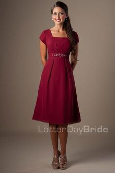This unique modest bridesmaid dress features a corset back, a lovely empire waist, delicate flower detail and radiating ruching throughout the skirt. Fabric - Chiffon *Dress shown in Cornflower View our Garment Bag. View our Return Policy. Affordable Bridesmaid Dresses, Burgundy Bridesmaid Dresses, Bridesmaid Dresses Online, Bridesmaids, Modest Dresses, Pretty Dresses, Short Dresses, Prom Dresses, Formal Dresses