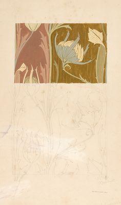 Harry Napper Art Nouveau woven textile design. From the Silver Studio Collection at MoDA #ColorOurCollections