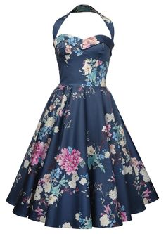 NEW! 1950s Swing Dress - Peony