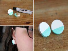 Homemade Colorblock Earrings for Mom!