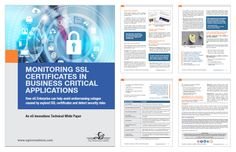 eG Enterprise can help avoid embarrassing outage caused by expired SSL Certificates and detect security risks.  http://www.eginnovations.com/resources.htm