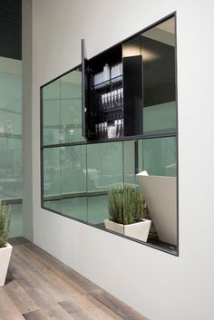 Wall cabinet with mirror TEATRO - Antonio Lupi Design