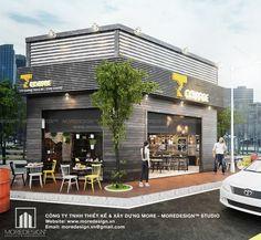 Thiết kế mặt tiền quán cafe hiện đại