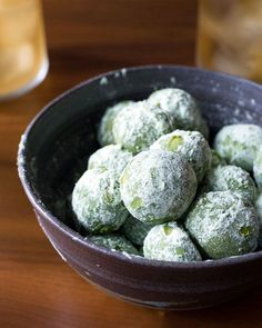 Mini matcha (green tea) lemon meltaway cookie recipethat pairs perfectly with tea -- hot or iced. I'm warning you now:these cookies are highly addictive!