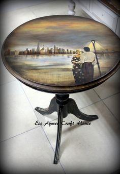 hermoso paisaje en mesa