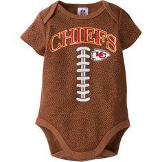 0c32f3df78 NFL Kansas City Chiefs Baby Boys Football Print Bodysuit - Walmart.com
