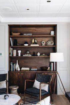 dark wood shelf