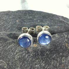 blue kyanite stud earrings sterling silver , gemstone studs £30.00